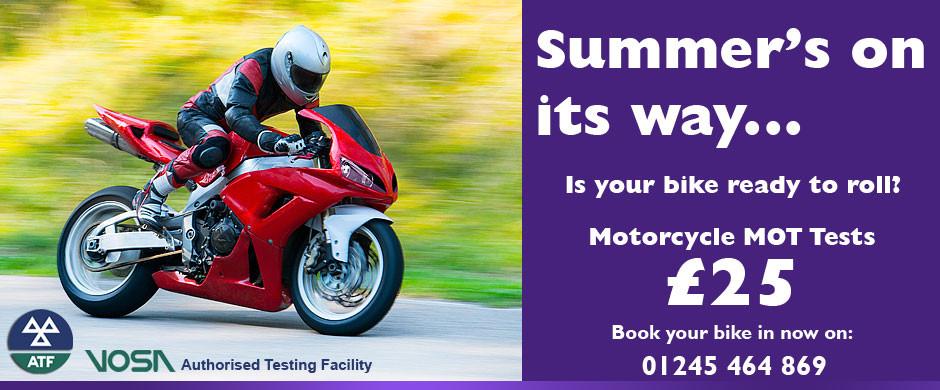 Motorcycle MOT tests