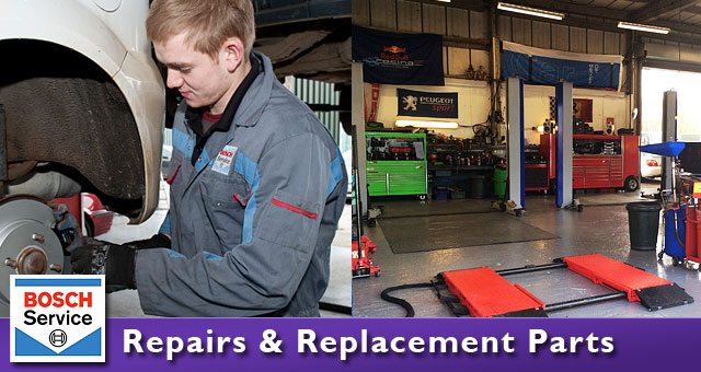 Replacement parts and repairs